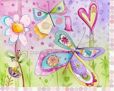 #Kids #wall #art Butterflies II 8x10 Print by bealoo on Etsy, $15.00