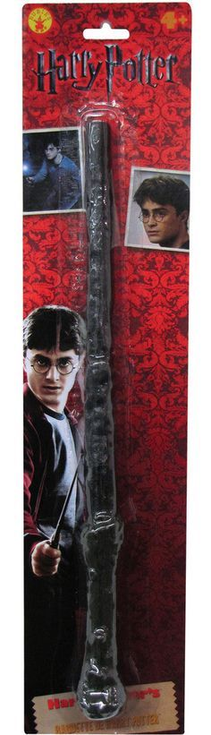 Harry Potter - Harry Potter Wand Includes: Wand. This is an officially licensed Harry Potter accessory. Weight (lbs) 0.38 Length (inches) 18 Width (inches) 4 Height(inches) 1.25