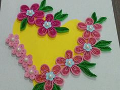 quilling heart greeting card