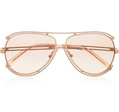 95c839963f537 Shop for Isidora Aviator-style Gold-tone Sunglasses - Blush by Chloé at  ShopStyle.