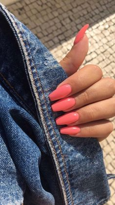 Bright Summer Acrylic Nails, Simple Acrylic Nails, Best Acrylic Nails, Pink Acrylic Tips, Acrylic Nails Designs Short, Acrylic Nail Designs For Summer, Coffin Acrylic Nails, Best Nails, Bright Gel Nails