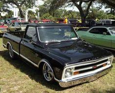 Black 67 chevy  trk