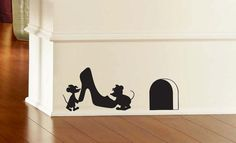 Jaq and Gus Cinderella Inspired Mouse Hole Wall by AliRoseCreative