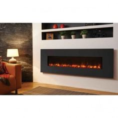 Gazco Radiance Steel 190W Electric Wall Mounted Fire Graphite