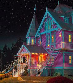 The Pink Palace apartments - Coraline Film Coraline, Coraline Jones, Coraline Tumblr, Coraline Tattoo, Coraline Aesthetic, Do It Yourself Design, Cabin In The Woods, Pink Palace, Pink Houses
