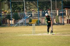 And the batsman digs out a yorker!