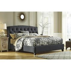 Kasidon King Bed in Dark Gray | Nebraska Furniture Mart