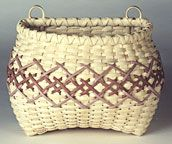 Embroidered Wall Basket - Pattern By Judith Olney. This Pattern is available at the Basket Maker's Catalog