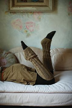 Ravelry: Belle Cable Legwarmers pattern by Martin Storey