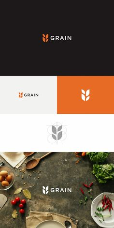 Logo redesign by trinitiff for modern food brand Grain. #tech #branding #design