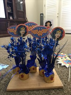 Wonder Woman Center Pieces