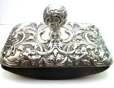 WILLIAM COMYNS SOLID SILVER DESK INK BLOTTER LONDON 1890