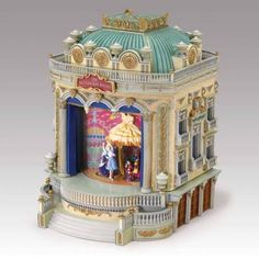 nutcracker ballet music box with multiple scenes performed on center stage, so beautiful