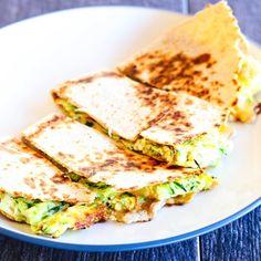 Zucchini Quiche Breakfast Quesadilla