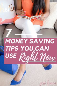 7 Tips for Saving Money Right Now Need quick and easy to implement methods for saving money? These are seven ways that make saving money easier and save your budget. Best Money Saving Tips, Money Saving Challenge, Money Tips, Saving Money, Money Budget, Money Hacks, Living On A Budget, Frugal Living Tips, Family Budget