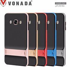 VONADA Slim Hybrid Shockproof Kickstand Stand PC Case Cover For Samsung J7 2016 (J710)