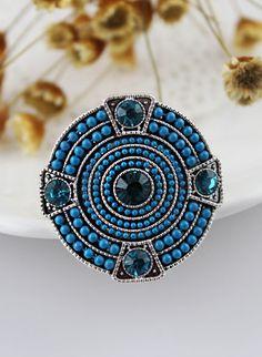 Anillo redondo cristales-Azul EUR€5.19