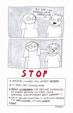 "Comic that shuts down ""How can you have depression if ..."""