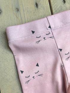 mauve cats Little Acorns, Knit Leggings, Mauve, Cotton Spandex, Organic Cotton, Lady, Fabric, Closet, Tejido