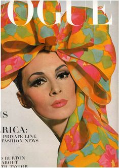 Vogue.  March 1965.  Cover Model: Wilhelmina Photographed by Irving Penn