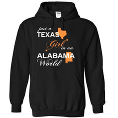 (TXJustCam002) Just A Texas Girl In A Alabama World, Get yours HERE ==> https://www.sunfrog.com/Valentines/-28TXJustCam002-29-Just-A-Texas-Girl-In-A-Alabama-World-Black-Hoodie.html?id=47756 #christmasgifts #merrychristmas #xmasgifts #holidaygift #alabama #sweethomealabama