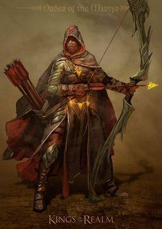 m Fighter Archer Champion Plate Longbow Sword Cloak midlvl