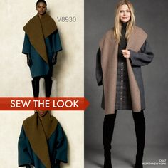 Sew the Look with this customer favorite coat sewing pattern from Vogue Patterns. V8930.