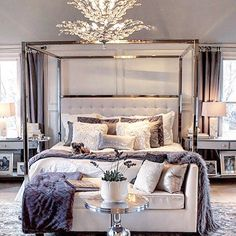Master bedroom reveal with product sources. South Shore Decorating Blog