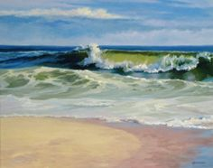 Nancy Wernersbach©2012 Oil Waves are majestic & fleeting--I love to capture one like this!Original Available (Contemporary Painting)