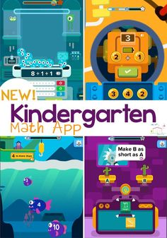 Practice kindergarten math skills like counting, shapes, addition and more with this fun math app for kids! Kids Activities At Home, Math For Kids, Fun Math, Preschool Ideas, Maths, Kindergarten Games, Preschool Education, Teaching Math, Kids Learning Apps