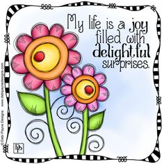 Affirmation Wednesday: I love surprises and I have seen the more that I use this affirmation the more surprises I have received and they are all truly delightful! Flower Doodles, Doodle Art, Doodle Canvas, Art Journal Pages, Whimsical Art, Journal Inspiration, Rock Art, Painted Rocks, Hand Lettering