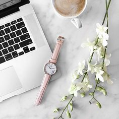 Swooning over this pink, marble & rose gold watch from @oscaranddime 😍✨ use…
