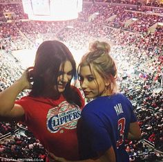 Rumour mill: Both Hailey and Kendall (left) have been linked to the pop star, but sources claim they are all just pals