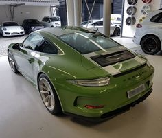 Olive Green Porsche 911 R with Silver Stripes Is Another Kind of Martini Livery - autoevolution