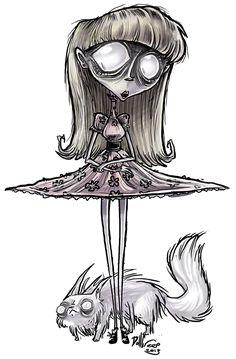 Weird girl by DollCreep