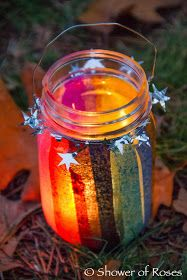 "Martinmas Lanterns (Shower of Roses) ""But undoubtably the main festivity on St Martin's Day especially in France and Germany is that of making paper lanterns and carrying them in procession. Children form groups – either informally or as Mason Jar Lanterns, Lanterns Decor, Paper Lanterns, Candle Jars, Mason Jars, Decorative Lanterns, Glass Lanterns, Diy For Kids, Crafts For Kids"