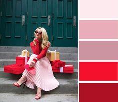 РОЗОВЫЙ + КРАСНЫЙ Уже давным-давно канул в лету запрет на сочетание этих двух цветов. Если вы из тех, кому идет красная помада, не сомневайтесь, комбинация из ярко-алого и нежно-розового будет вам к лицу.