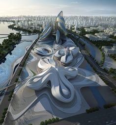 International Culture & Art Centre: il centro culturale ideato da Zaha Hadid che sembra un fiore (FOTO)
