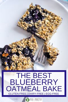 A soft and chewy breakfast bar, Baked Blueberry Oatmeal Bars are a great healthy baked addition to your early morning. Healthy Breakfast Choices, Breakfast Bread Recipes, Gluten Free Recipes For Breakfast, Quick And Easy Breakfast, Free Breakfast, Breakfast Ideas, Healthy Oatmeal Recipes, Easy Baking Recipes, Waffle Recipes