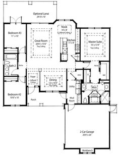 Right-Sized Energy Saving Home Plan - 33054ZR | Cottage, Country, Southern, Narrow Lot, Net Zero Ready, 1st Floor Master Suite, CAD Available, PDF, Split Bedrooms, Corner Lot | Architectural Designs