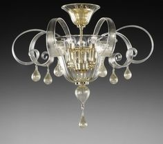 murano glass chandelier, from Murano, Italy Ceiling Fixtures, Ceiling Lamp, Ceiling Lights, Glass Ceiling, Murano Chandelier, Chandelier Bedroom, Venetian Glass, Murano Glass, Glass Ceramic