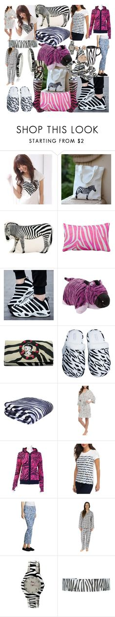 """""""Zebra day"""" by lerp ❤ liked on Polyvore featuring RingBear, Pillow Pets, Betty Boop Signature Product, Leisureland, Echo, MICHAEL Michael Kors, Vineyard Vines, Jellycat, Boum and Glitzy Rocks"""
