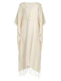 Lamu deep V-neck striped cotton kaftan SU Designs a5pbxDHZ0
