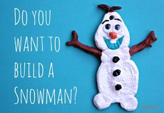 Super easy Frozen Olaf salt dough ornament craft.