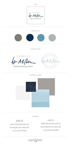 /laurajstudio/ I'm nuts about these colors and the round stamp w sig. Super love. New Work // B. Miller Photography