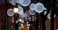Winter Light Ornaments Float Above The Munich Promenadeplatz In Germany | Bored Panda