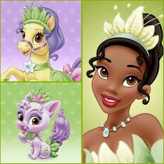 Tiana with Bayou (pony) and Lily (kitten) | Disney Palace Pets