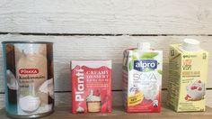 Testasimme 4 eri maidotonta kermaa. Vegaaniset soija-, kookos- ja kaurakermat pärjäsivät yllättävän hyvin testissä.