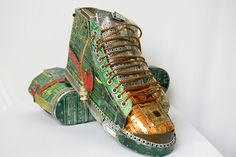"Upcycle old computer parts into Nike ""junk dunks."" 