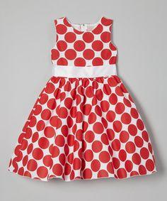 Kid Fashion Red Polka Dot A-Line Dress - Infant, Toddler & Girls Little Girl Fashion, Little Girl Dresses, Girls Dresses, Baby Dresses, Fashion Niños, Kids Fashion, Infant Toddler, Toddler Girls, Stylish Kids